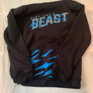 Boys 8/10 hooded dry fit sweatshirt